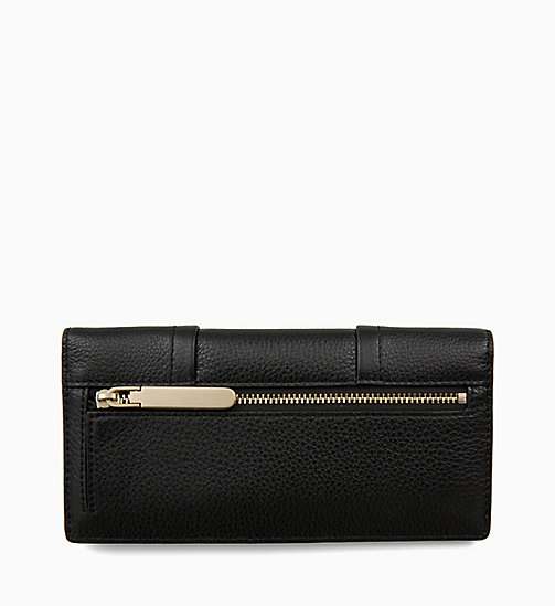 CALVINKLEIN Trifold Leather Wallet - BLACK - CALVIN KLEIN SHOES & ACCESORIES - detail image 1