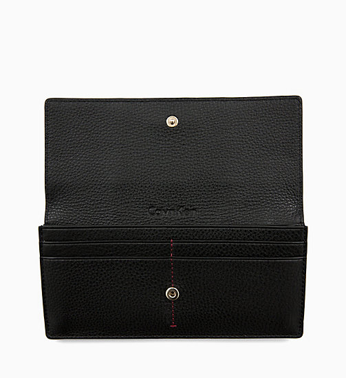 CALVIN KLEIN Trifold Leather Wallet - BLACK - CALVIN KLEIN MEN - detail image 1