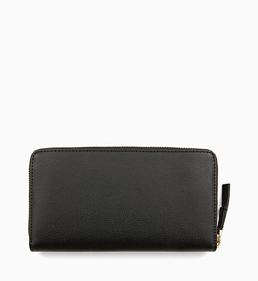 CALVINKLEIN Large Zip-Around Wallet - BLACK - CALVIN KLEIN SHOES & ACCESORIES - detail image 1