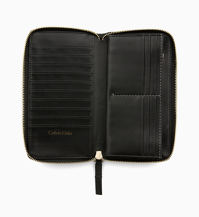 CALVIN KLEIN Large Zip-Around Wallet - TOBACCO - CALVIN KLEIN WOMEN - detail image 2