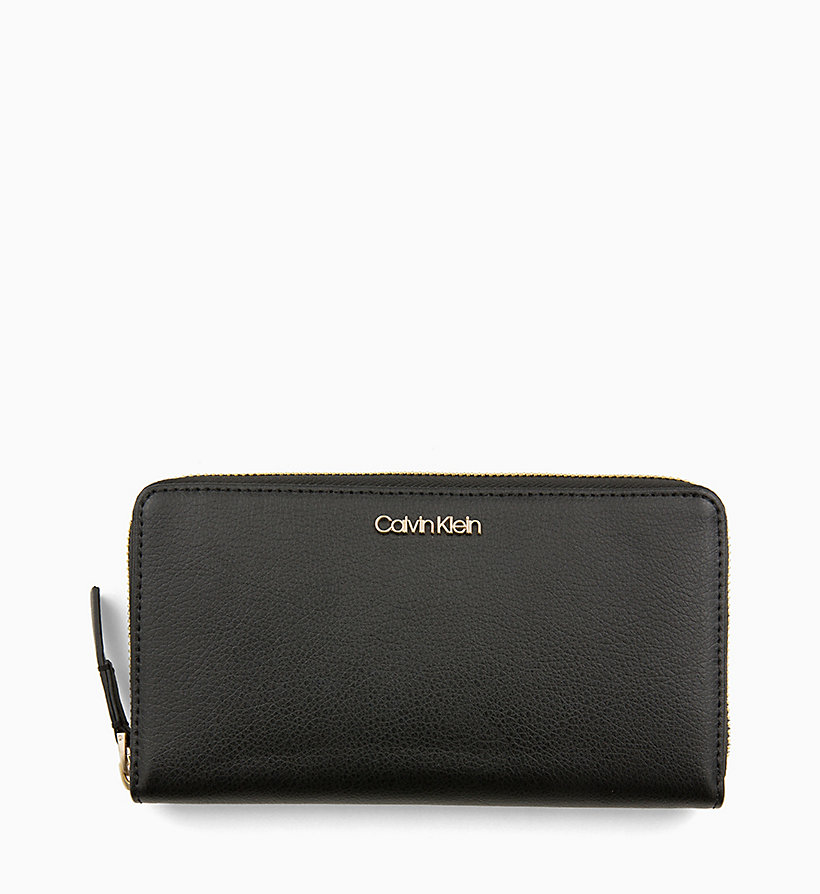 CALVINKLEIN Large Zip-Around Purse - TOBACCO - CALVIN KLEIN WOMEN - main image