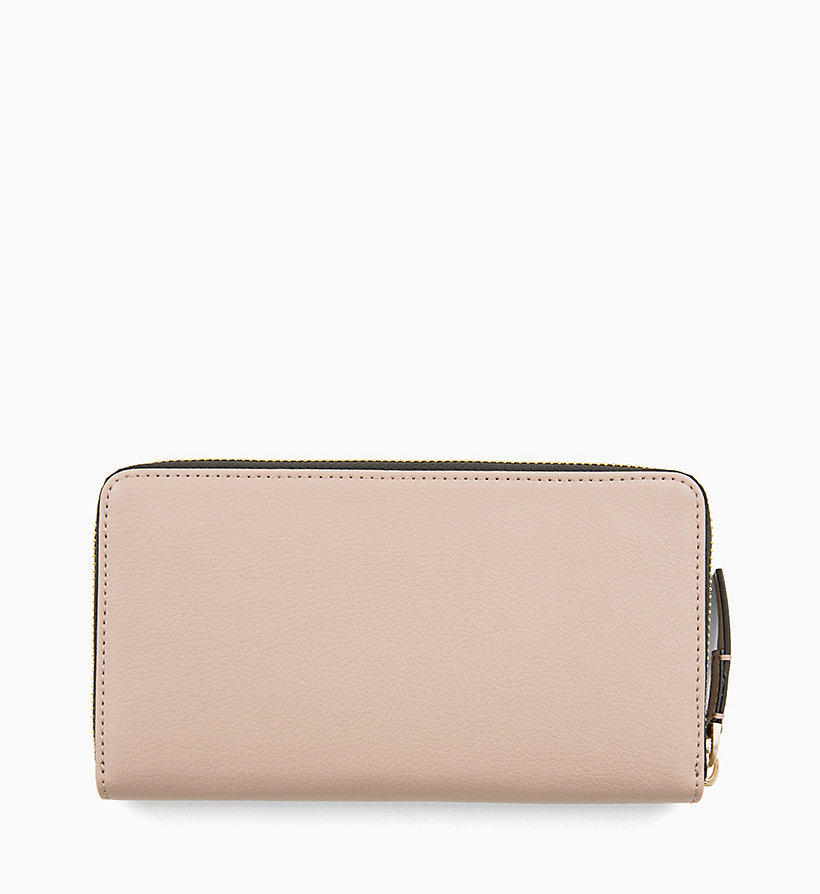 CALVIN KLEIN Large Zip-Around Wallet - STEEL GREYSTONE - CALVIN KLEIN WOMEN - detail image 1