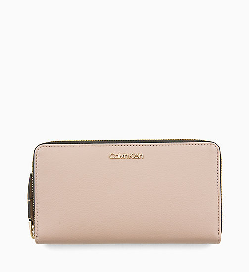 CALVINKLEIN Large Zip-Around Wallet - TOBACCO - CALVIN KLEIN WOMEN - main image