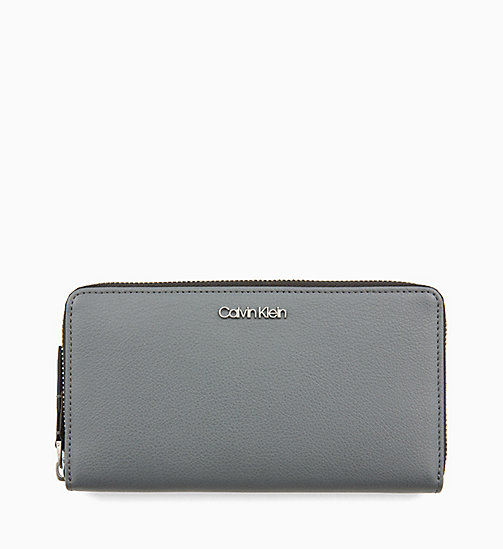CALVINKLEIN Large Zip-Around Purse - STEEL GREYSTONE - CALVIN KLEIN NEW IN - main image