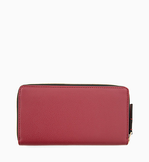 CALVINKLEIN Large Zip-Around Wallet - RED ROCK - CALVIN KLEIN WOMEN - detail image 1