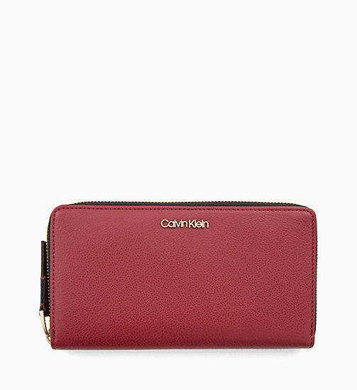 CALVIN KLEIN Large Zip-Around Wallet - RED ROCK - CALVIN KLEIN WOMEN - main image