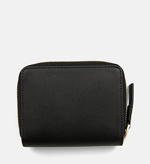 CALVINKLEIN Medium Zip-Around Flap Purse - BLACK - CALVIN KLEIN NEW IN - detail image 1