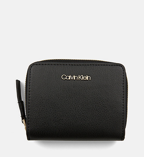 CALVINKLEIN Medium Zip-Around Flap Wallet - BLACK - CALVIN KLEIN SHOES & ACCESORIES - main image