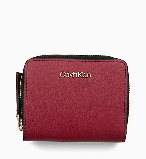 CALVINKLEIN Medium Zip-Around Flap Purse - RED ROCK - CALVIN KLEIN WALLETS & SMALL ACCESSORIES - main image