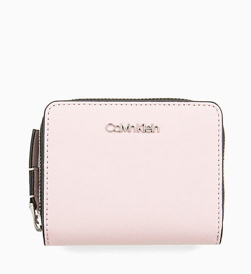 CALVINKLEIN Medium Zip-Around Flap Purse - PETAL - CALVIN KLEIN WALLETS & SMALL ACCESSORIES - main image