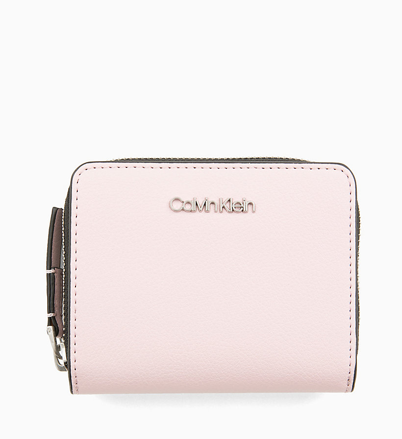 CALVINKLEIN Medium Zip-Around Flap Wallet - BLACK - CALVIN KLEIN WOMEN - main image