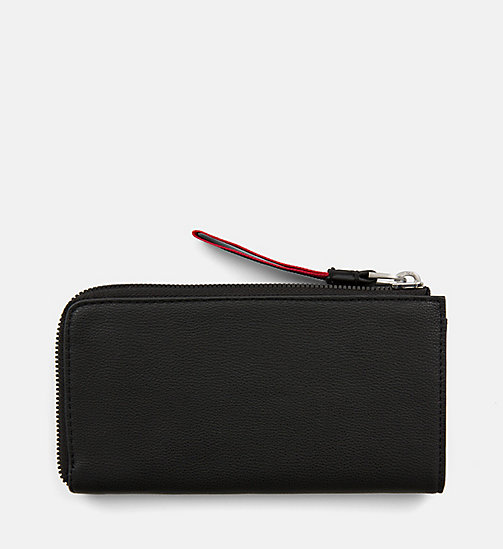 CALVINKLEIN Large Zip-Around Purse - BLACK - CALVIN KLEIN WALLETS & SMALL ACCESSORIES - detail image 1