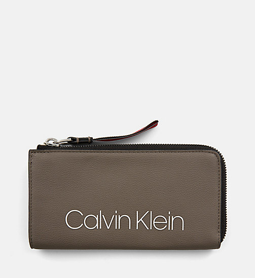 CALVINKLEIN Large Zip-Around Purse - ARMY FTGE - CALVIN KLEIN WALLETS & SMALL ACCESSORIES - main image