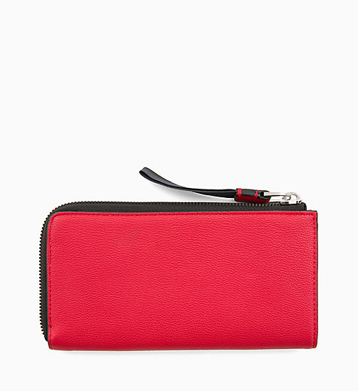 CALVINKLEIN Large Zip-Around Purse - ROUGE - CALVIN KLEIN WALLETS & SMALL ACCESSORIES - detail image 1