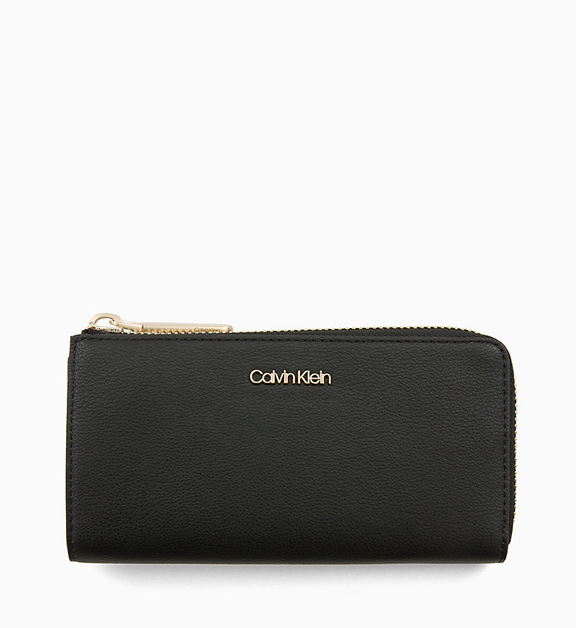 CALVIN KLEIN Large Zip-Around Wallet - STEEL GREYSTONE - CALVIN KLEIN WOMEN - main image