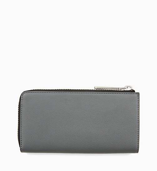 CALVINKLEIN Large Zip-Around Purse - STEEL GREYSTONE - CALVIN KLEIN NEW IN - detail image 1