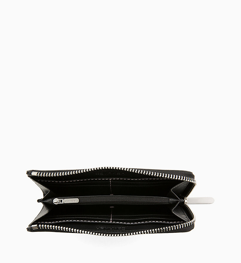 CALVINKLEIN Large Zip-Around Wallet - BLACK - CALVIN KLEIN WOMEN - detail image 2
