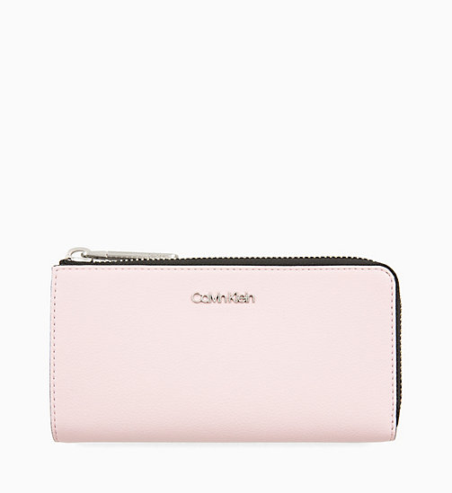 CALVIN KLEIN Large Zip-Around Wallet - PETAL - CALVIN KLEIN WOMEN - main image