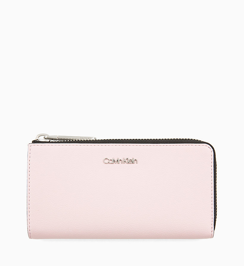 CALVINKLEIN Large Zip-Around Wallet - BLACK - CALVIN KLEIN WOMEN - main image