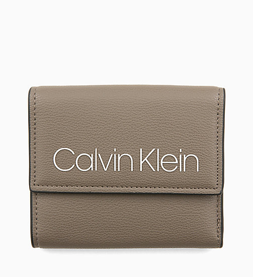 CALVINKLEIN Medium Trifold Purse - ARMY FTGE - CALVIN KLEIN WALLETS & SMALL ACCESSORIES - main image