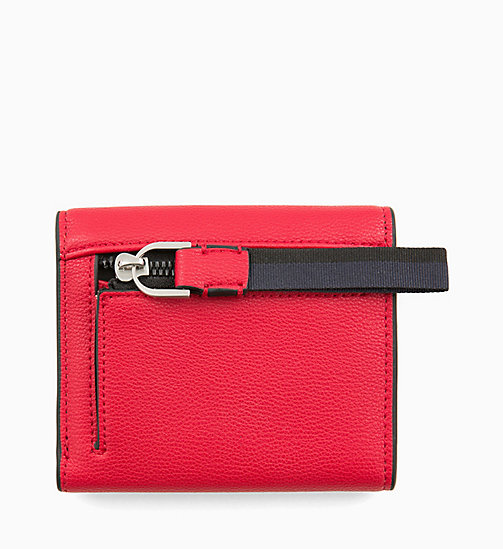 CALVINKLEIN Medium Trifold Purse - ROUGE - CALVIN KLEIN WALLETS & SMALL ACCESSORIES - detail image 1