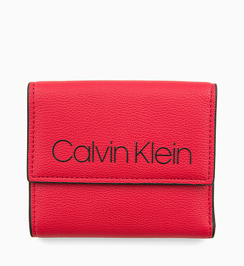CALVINKLEIN Medium Trifold Purse - ROUGE - CALVIN KLEIN WALLETS & SMALL ACCESSORIES - main image