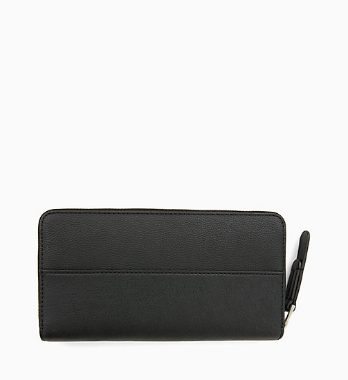 CALVINKLEIN Large Zip-Around Wallet - BLACK - CALVIN KLEIN PERFUMES & ACCESSORIES - detail image 1