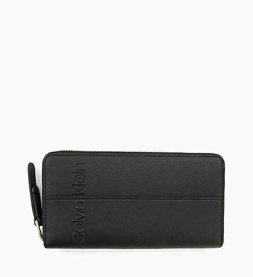 CALVIN KLEIN Large Zip-Around Wallet - BLACK - CALVIN KLEIN PERFUMES & ACCESSORIES - main image