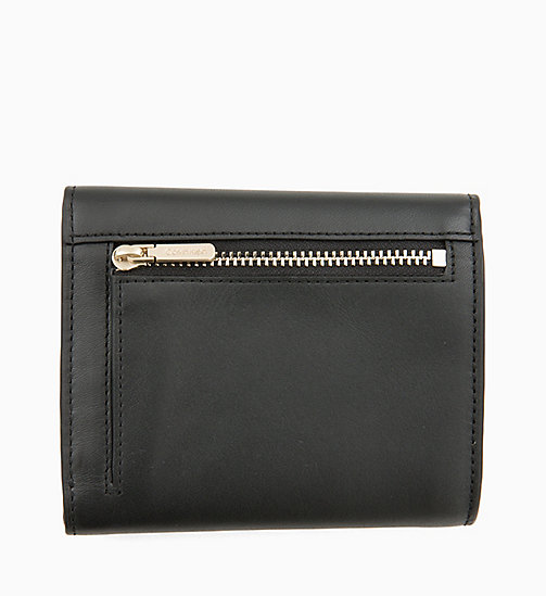 CALVINKLEIN Small Trifold Leather Wallet - BLACK - CALVIN KLEIN PERFUMES & ACCESSORIES - detail image 1