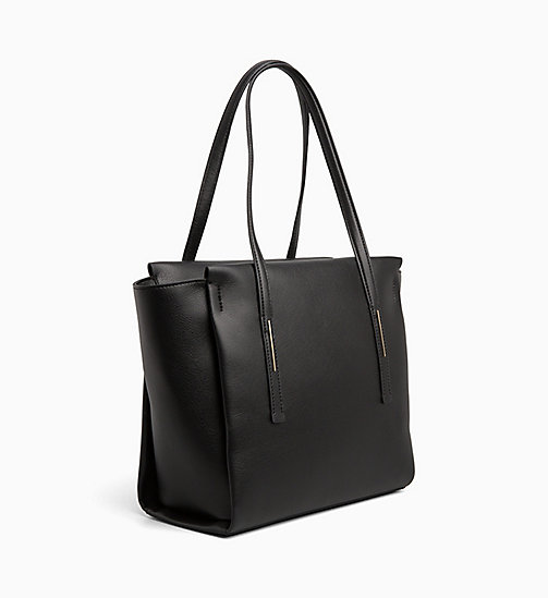 CALVINKLEIN Medium Tote Bag - BLACK - CALVIN KLEIN NEW IN - detail image 1