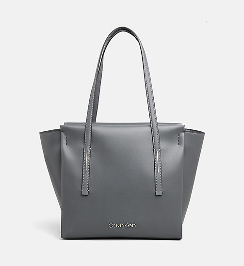 CALVINKLEIN Medium Tote Bag - STEEL GREYSTONE - CALVIN KLEIN ALL GIFTS - main image