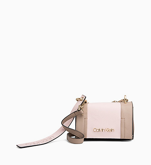 CALVINKLEIN Small Leather Flap Crossover - TOBACCO/PETAL - CALVIN KLEIN NEW IN - main image