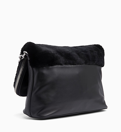 CALVIN KLEIN Leather Cross Body Bag - BLACK - CALVIN KLEIN BAGS - detail image 1