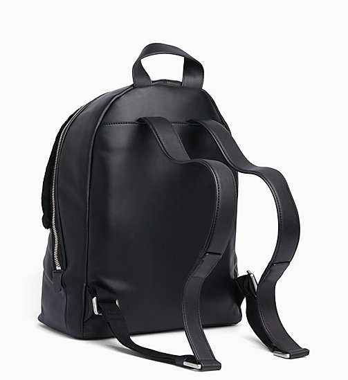 CALVIN KLEIN Shearling Leather Backpack - BLACK - CALVIN KLEIN BACKPACKS - detail image 1