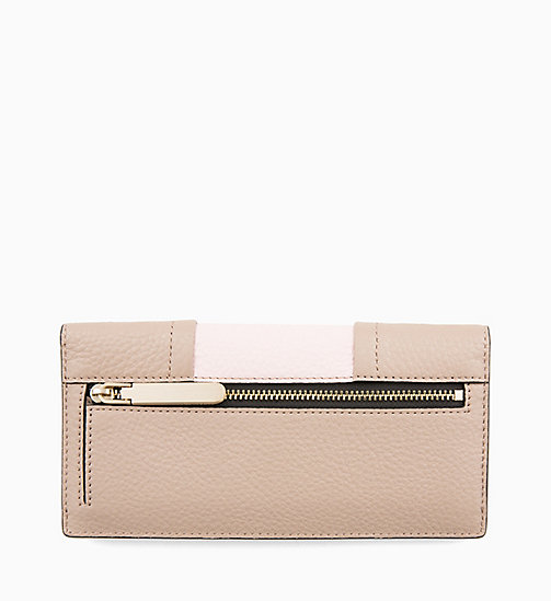 CALVINKLEIN Trifold Leather Purse - TOBACCO/PETAL - CALVIN KLEIN WALLETS & SMALL ACCESSORIES - detail image 1