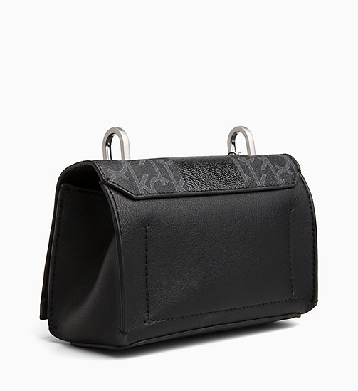 CALVINKLEIN Logo Small Flap Cross Body Bag - BLACK MONO/BLACK - CALVIN KLEIN NEW IN - detail image 1