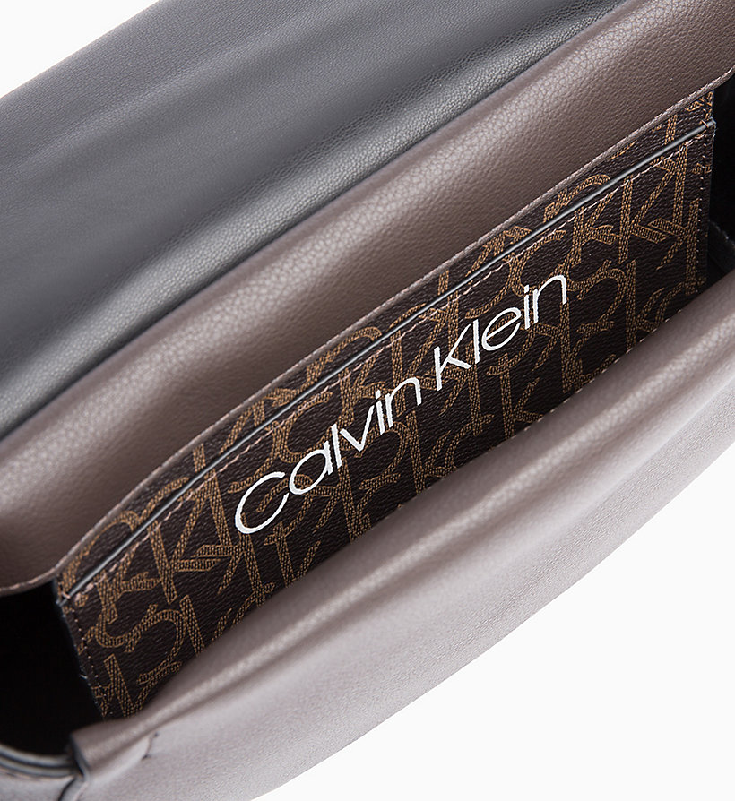 CALVINKLEIN Logo Saddle Bag - BLACK MONO/BLACK - CALVIN KLEIN WOMEN - detail image 2