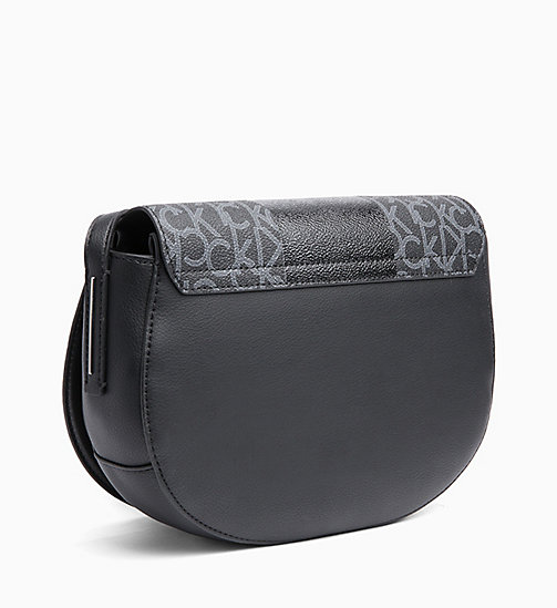 CALVINKLEIN Logo Saddle Bag - BLACK MONO/BLACK - CALVIN KLEIN NEW IN - detail image 1