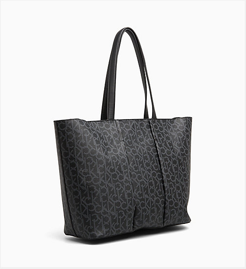 CALVINKLEIN Logo Tote Bag - BLACK MONO/BLACK -  NEW IN - detail image 1