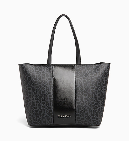 CALVINKLEIN Logo Tote Bag - BLACK MONO/BLACK -  NEW IN - main image