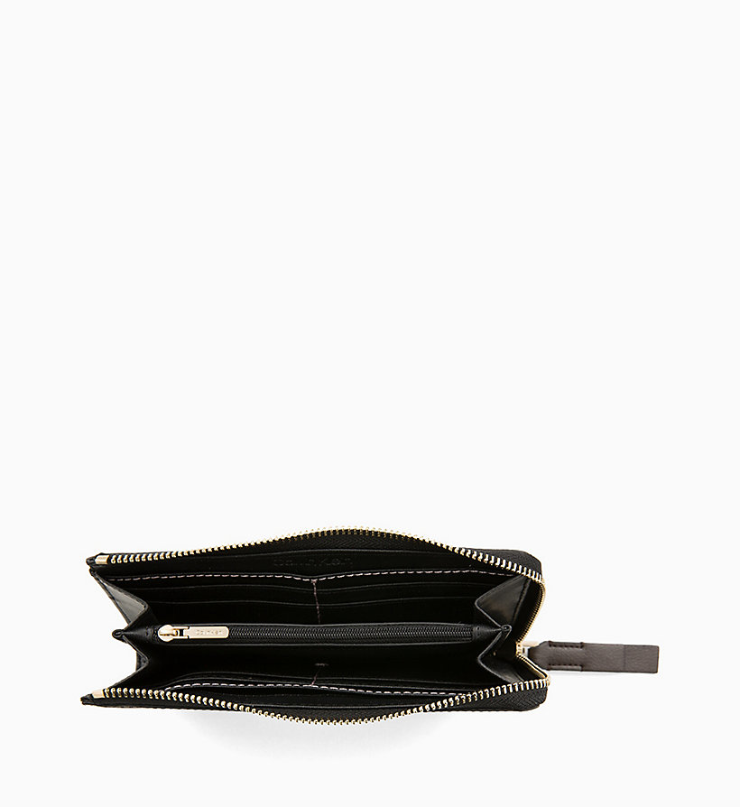 CALVINKLEIN Large Zip-Around Wallet - BLACK MONO/BLACK - CALVIN KLEIN WOMEN - detail image 2