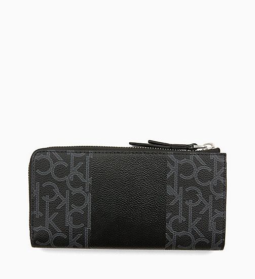 CALVINKLEIN Large Zip-Around Wallet - BLACK MONO/BLACK - CALVIN KLEIN SHOES & ACCESORIES - detail image 1