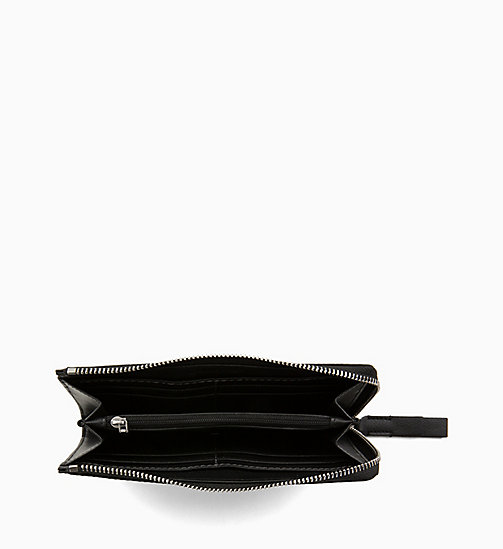CALVIN KLEIN Large Zip-Around Wallet - BLACK MONO/BLACK - CALVIN KLEIN WOMEN - detail image 1