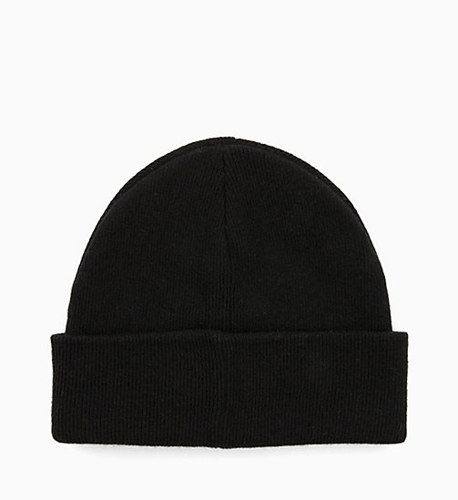 CALVIN KLEIN Wool Blend Beanie - BLACK - CALVIN KLEIN IN THE THICK OF IT FOR HER - detail image 1
