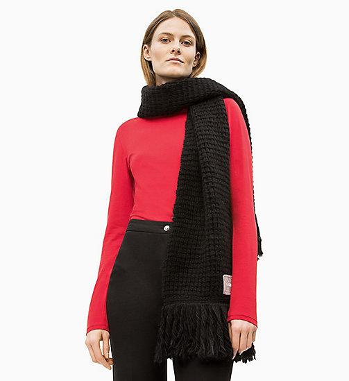 ... CALVIN KLEIN Écharpe en laine mélangée épaisse - BLACK - CALVIN KLEIN  DERNIÈRE CHANCE - image 04321e88c9e