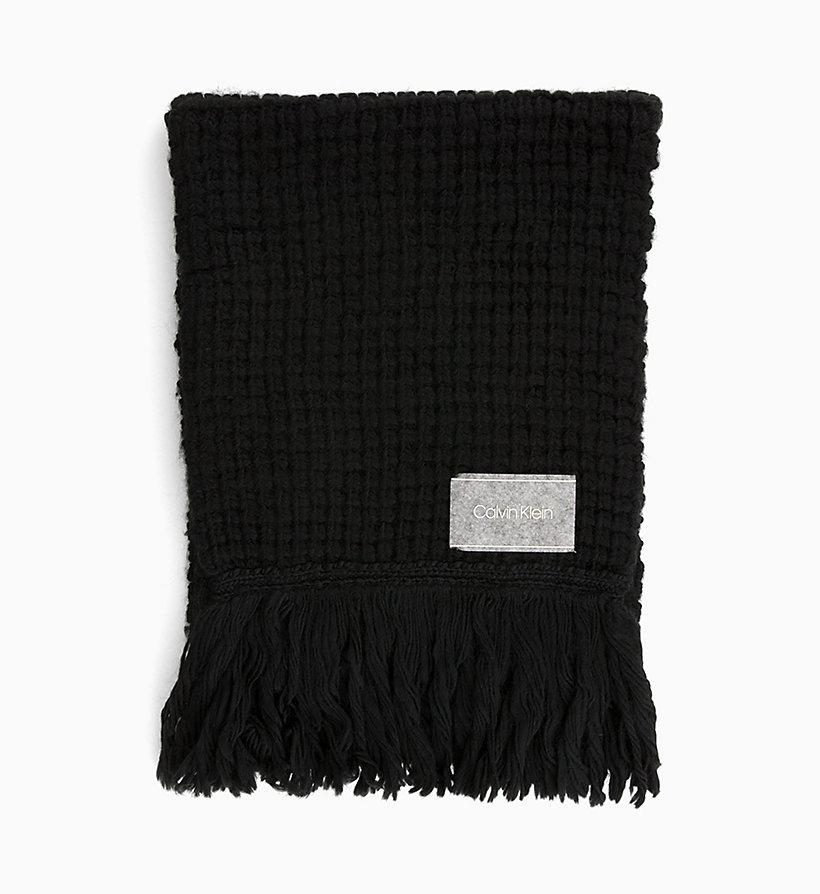 x0. Zoom. 1 x0. Zoom. Voir toutes les images. CALVIN KLEIN Écharpe en laine  mélangée épaisse - BLACK - CALVIN KLEIN FEMMES ... 305f1568126
