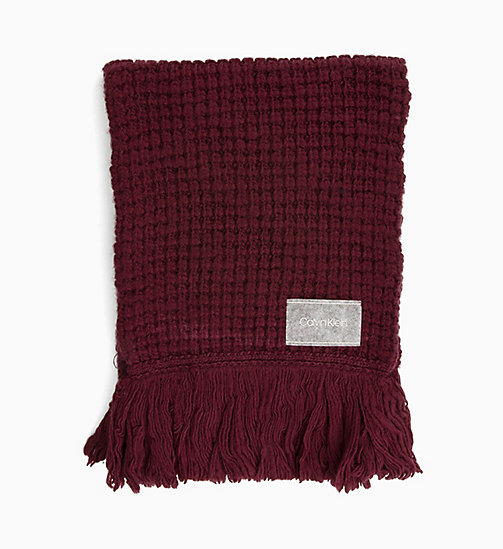 CALVINKLEIN Chunky Wool Blend Scarf - DARK CRANBERRY - CALVIN KLEIN SCARVES - main image