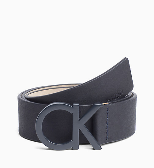 CALVINKLEIN CK Leather Belt - DARK NAVY - CALVIN KLEIN BELTS - main image