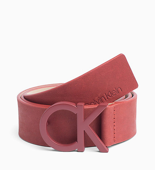 CALVIN KLEIN CK Leather Belt - RED ROCK - CALVIN KLEIN WOMEN - main image