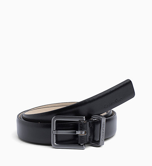 CALVIN KLEIN Leather Belt - BLACK - CALVIN KLEIN PERFUMES & ACCESSORIES - main image